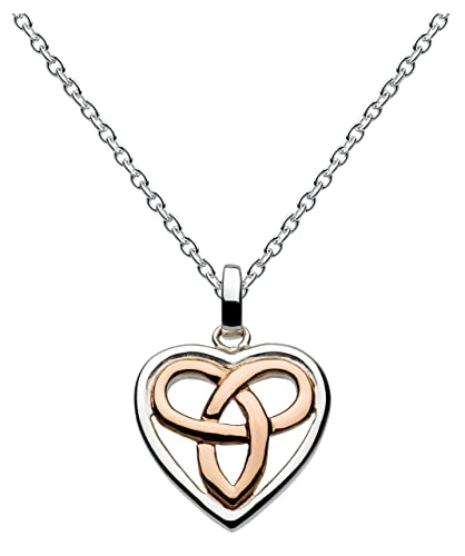 Heritage sterling silver and rose gold plated celtic heart necklace heritage sterling silver and rose gold plated celtic heart necklace of length 457 cm aloadofball Images