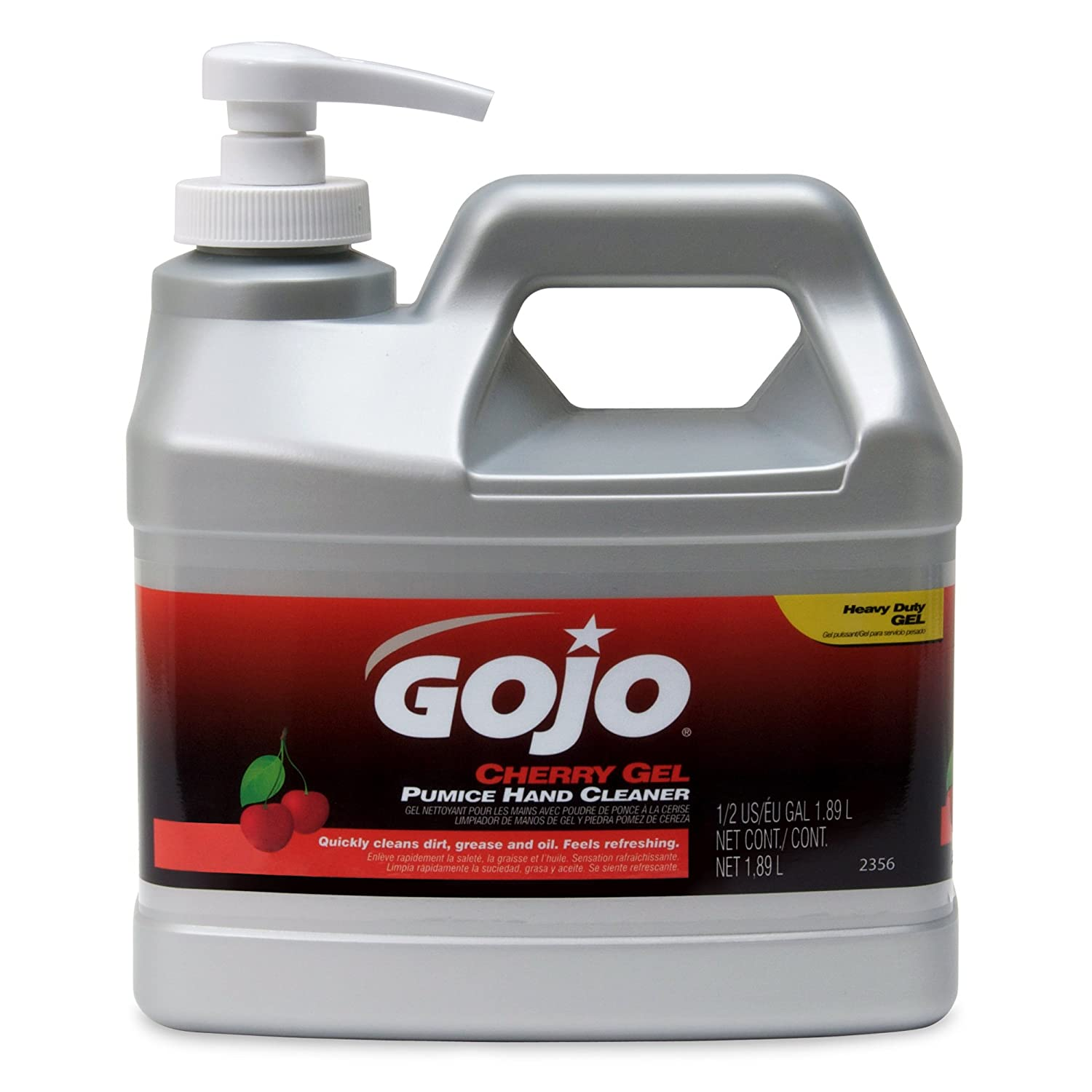 Gojo Industries 2356-04 1' x 1' x 1' Cherry Hand Cleaner, 1/2 Gallon