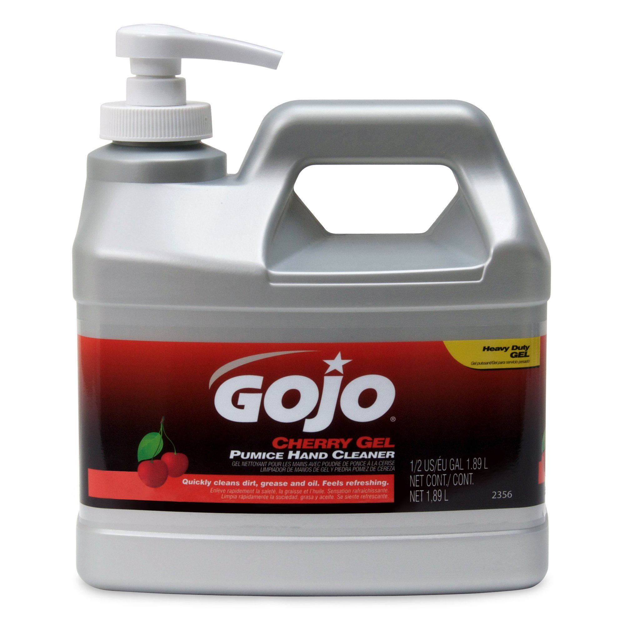 Gojo Industries 2356-04 Cherry Hand Cleaner, 1/2 Gallon