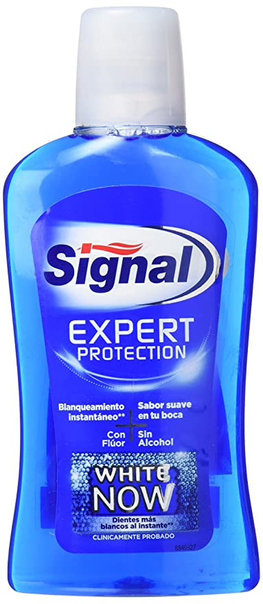 Signal White Now Enjuague Bucal