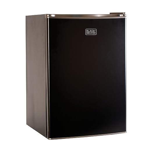 BLACK+DECKER BCRK25B Compact Refrigerator Energy Star Single Door Mini Fridge with Freezer, 2.5 Cubic Ft., Black