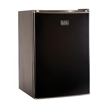 refrigerator amazon. black+decker bcrk25b compact refrigerator energy star single door mini fridge with freezer, 2.5 amazon