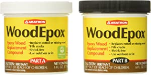 Abatron WoodEpox Epoxy Wood Replacement Compound, 12 oz Kit, Part A & B