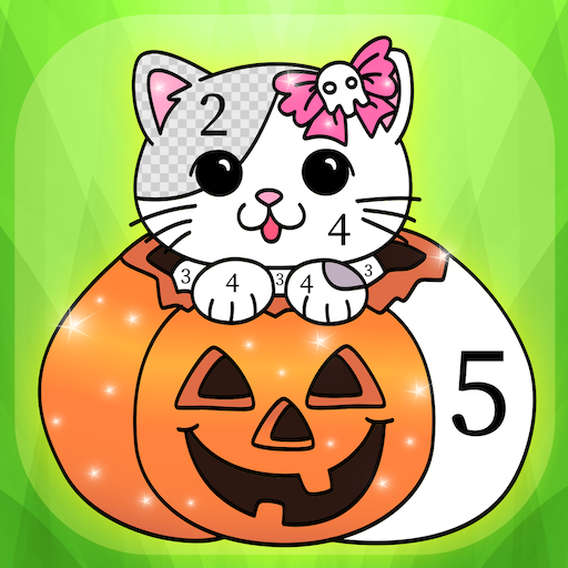 Halloween Coloring by Numbers Book for kids