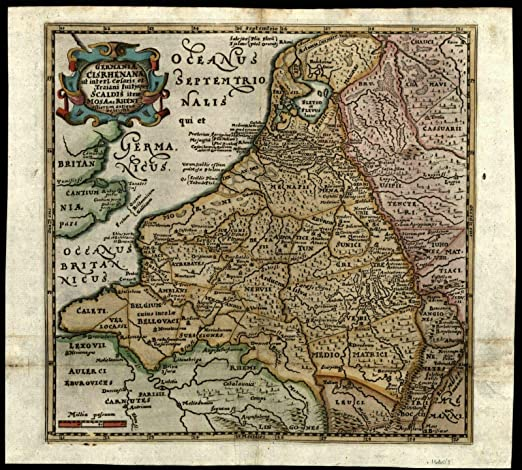 Map Of Holland And Germany.Amazon Com Low Countries Netherlands Holland Ancient Germany C 1660