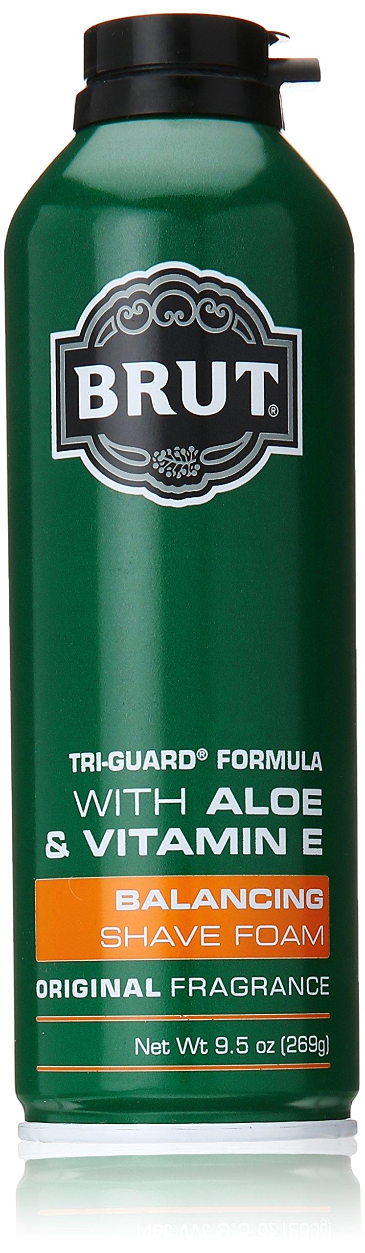Brut Tri Guard Formula Balancing Shaving Lotion with Aloe and Vitamin E, Original Fragrance, 9.5 Ounce