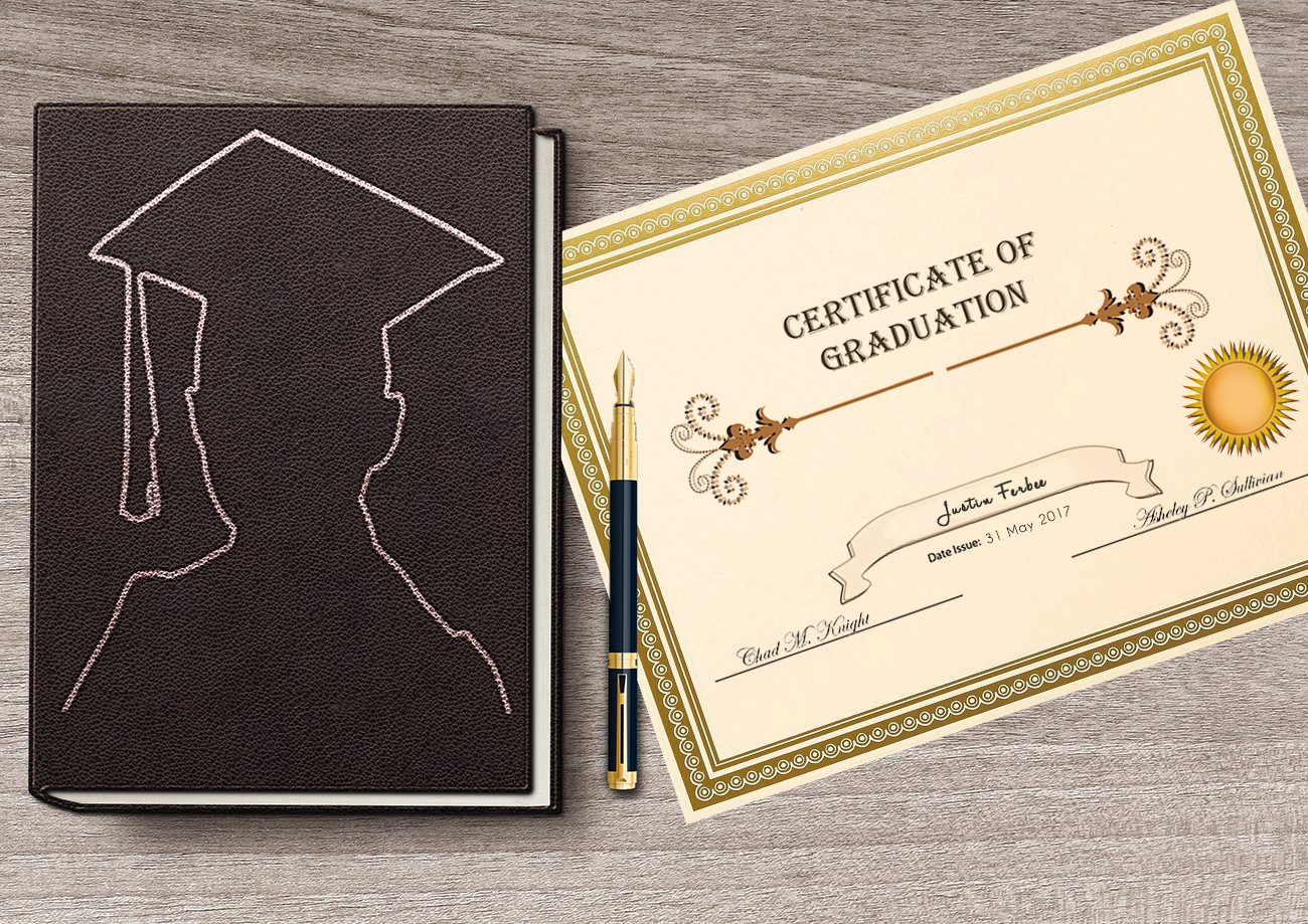 award certificates 50 blank plain paper sheets with gold foiled