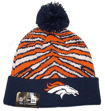 43cf3f187a90e Image Unavailable. Image not available for. Color  Zubaz Denver Broncos Pom  Cuffed Knit Hat