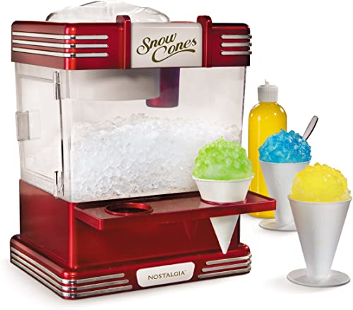 Nostalgia RSM602 Countertop Snow Cone Maker Makes - Best for Retro Style Kitchen