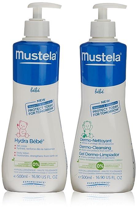 Mustela - Bebe leche hidratante 500ml + gel dermo limpiador 500ml Bebe