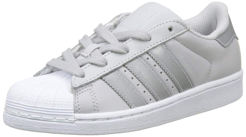 Adidas Originals Superstar, Zapatillas Unisex Niños 29 EU|Gris (Lgh Solid Grey/Silver Met./Ftwr White)