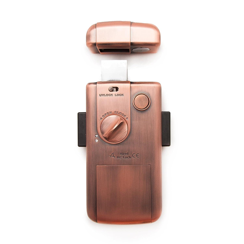 NUEVA cerradura electronica INTELIGENTE invisible con 5 mandos . Color bronce. Fabricada por SELOCKEY.: Amazon.es: Bricolaje y herramientas