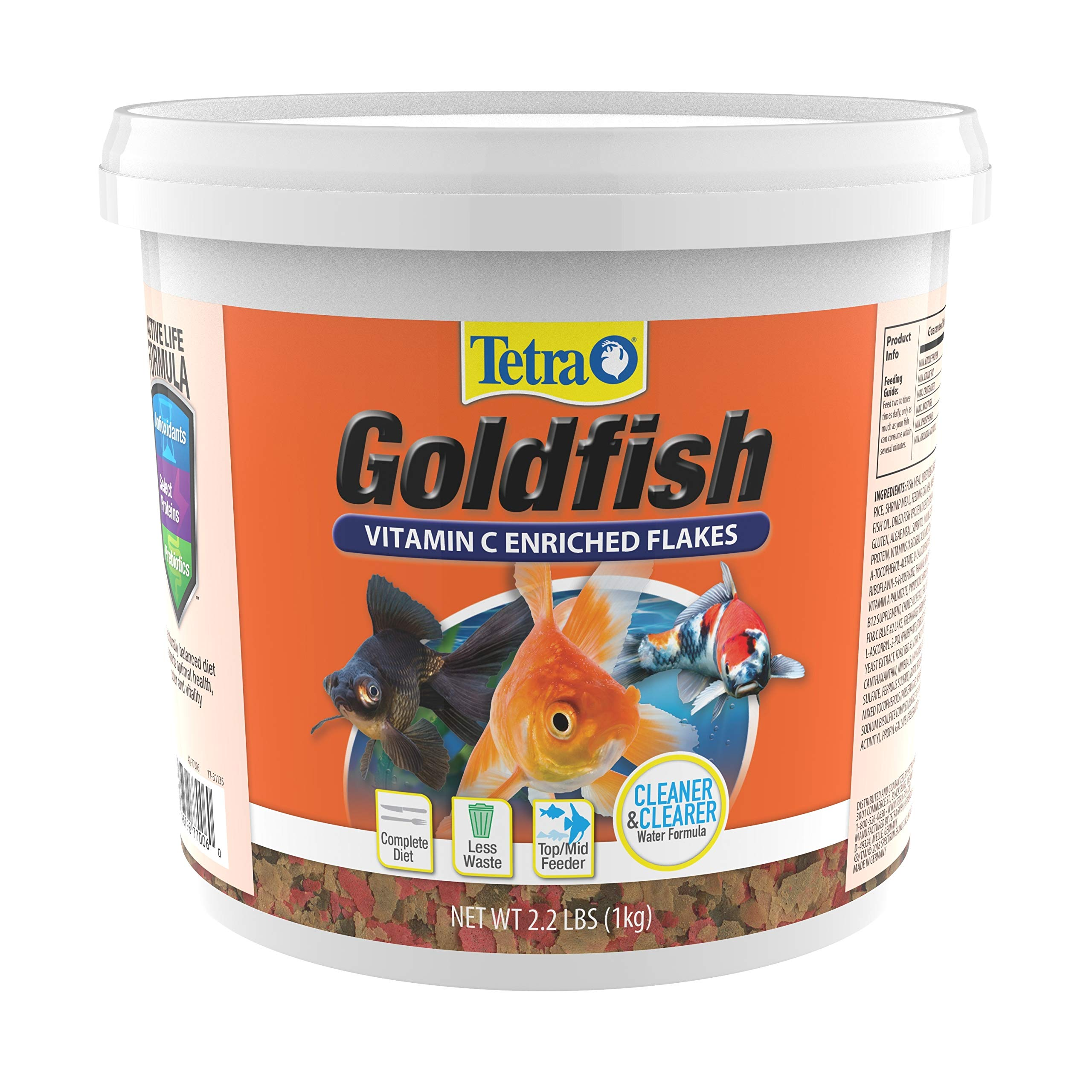 TetraFin Balanced Diet Goldfish Flake Food, 2.2 Pound (Pack of 1) by Tetra