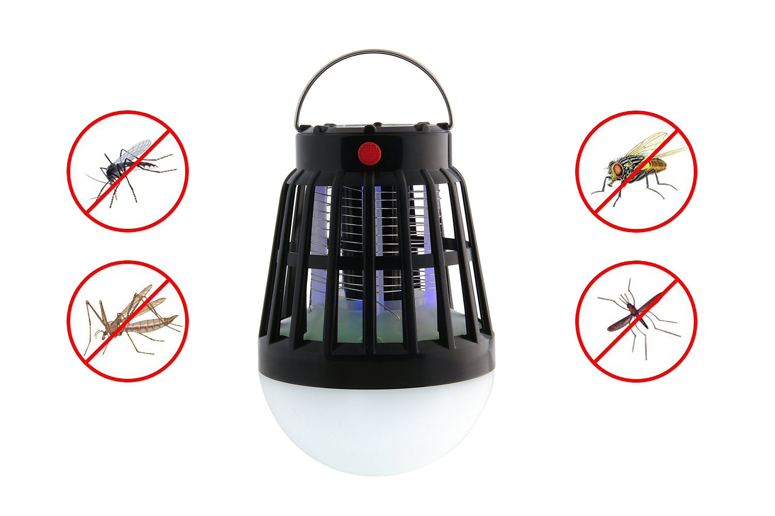 BLQH Solar Powered Bug Zapper Light, Solar Mosquito Killer Insect/Fly/Mosquitoes/Moths/Flies Killer Trap Pest Control LED Garden Lawn Lamp Electronic Insect Killer Waterproof for Outdoor Use