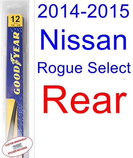 2014 – 2015 Nissan Rogue Select de repuesto para limpiaparabrisas Set/Kit (Goodyear limpiaparabrisas