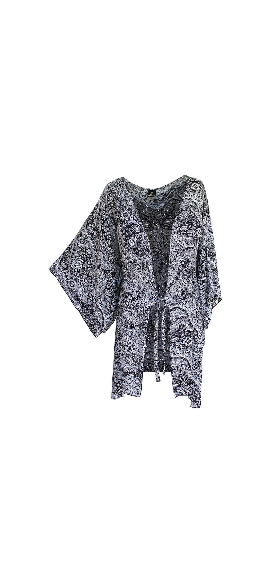 Womens Clothing Plus Size Kimono Tunic Cardigan, Kimono Sleeve,
