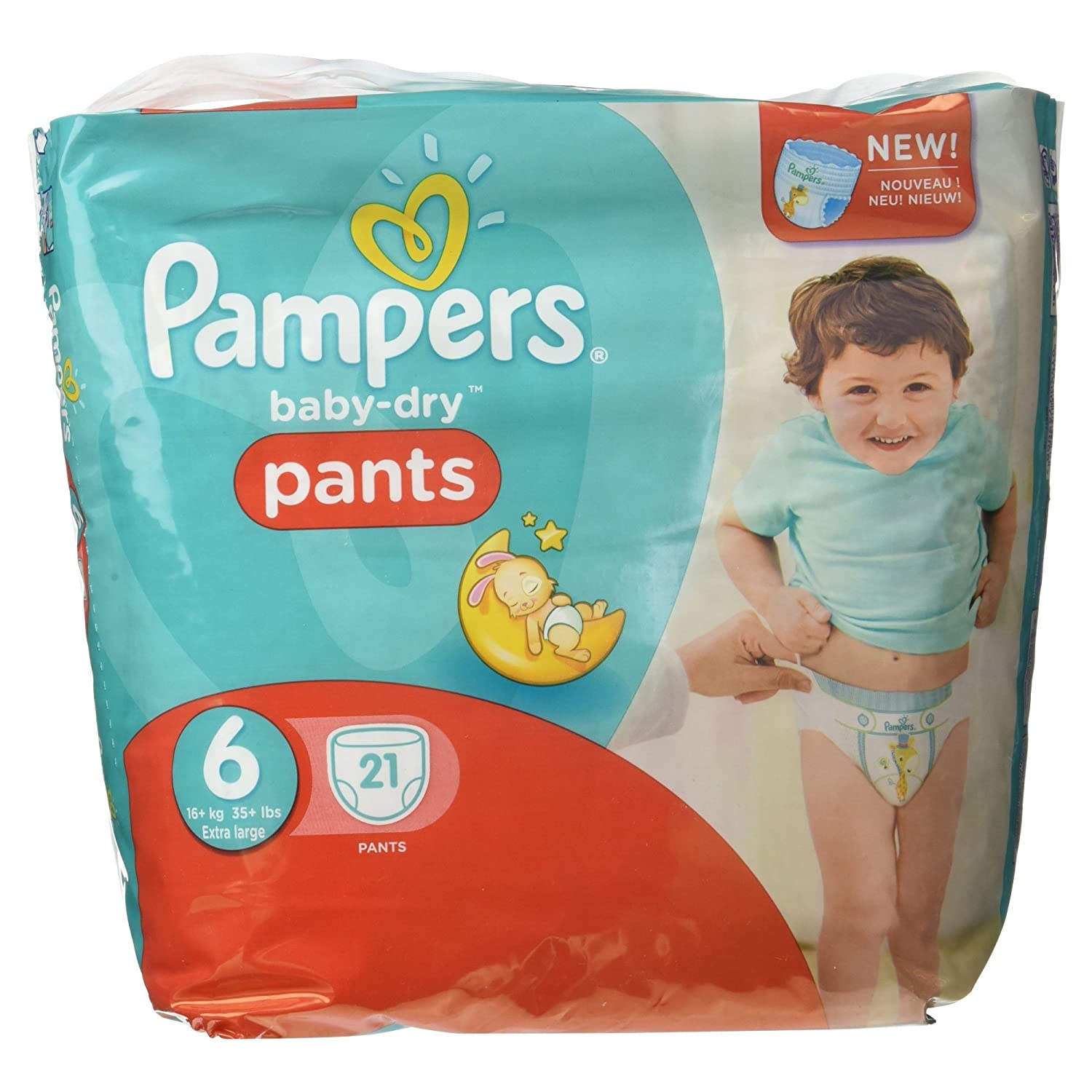 PAMPERS BBC00004516 Baby Dry Pants Culotte d'Apprentissage Jetables Taille 21 6 Pièces