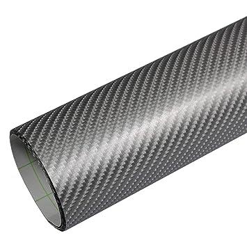 4D Carbon Folie Klebend Carbon Car Wrap Matt Glänzend Chrom Gebürstet Schwarz