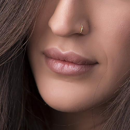 Amazon Com Thin Gold Nose Ring 24 Gauge 14k Gold Filled Nose