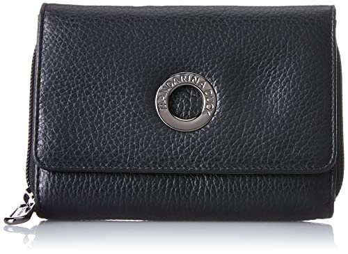 Mellow Leather Portafoglio, Womens Wallet, Schwarz (Nero), 3.5x9.5x13.5 cm (B x H T) Mandarina Duck
