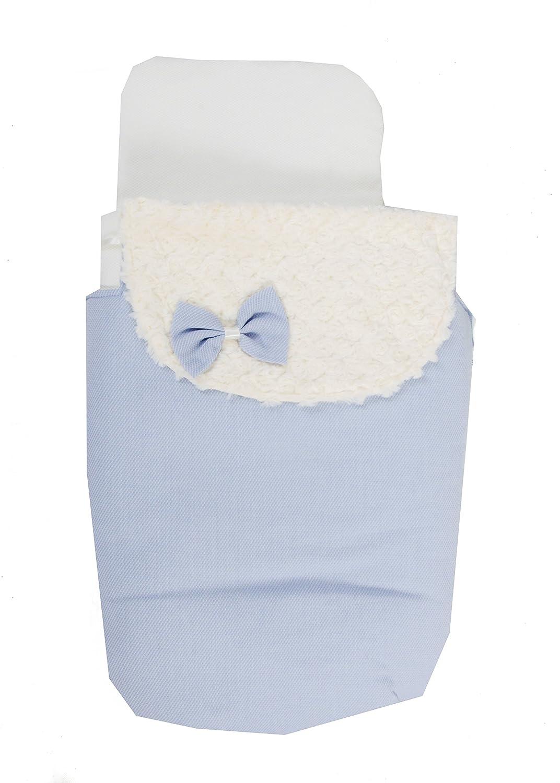 Saco Capazo 3 USOS- Carrito bebe (Saco + colchoneta + Colcha)  .Serie Dobby azul .Color azul: Amazon.es: Bebé