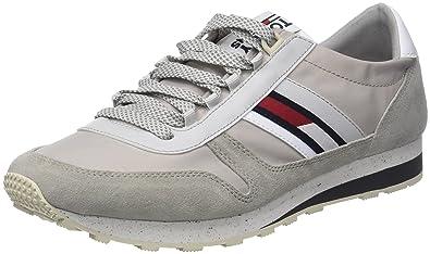 a51ee07a4580 Hilfiger Denim Herren Tommy Jeans Retro Sneaker, Grau (Diamond Grey 001), 42
