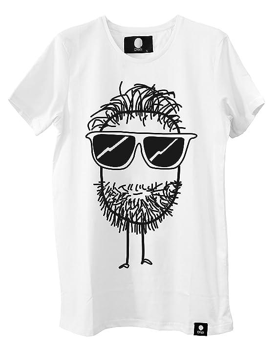 eef3ea360f0 Quipster Beard - Fashion T-Shirt für Damen und Herren lustige Bedruckte Tees  Weiß  Amazon.de  Bekleidung