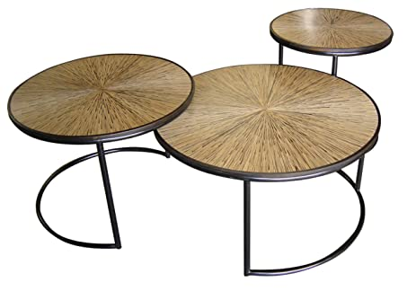 Jeffan International Habitat Loma Cocktail Table, Set Of 3