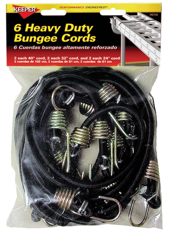 Keeper 06356 Heavy Duty Bungee Cord, 6 Piece PEAK PRODUCTS AMERICA INC