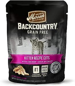 Merrick Backcountry Grain Free Kitten Recipe Cuts Wet Cat Food, 3 oz., Case of 24, 24 X 3 OZ