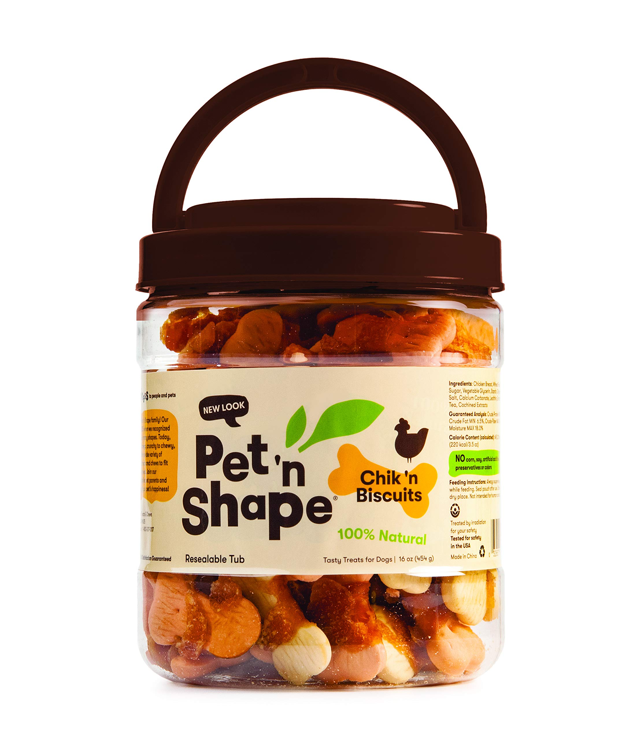 Pet 'n Shape Chik 'n Biscuits Natural Dog Treats, 1-Pound Tub