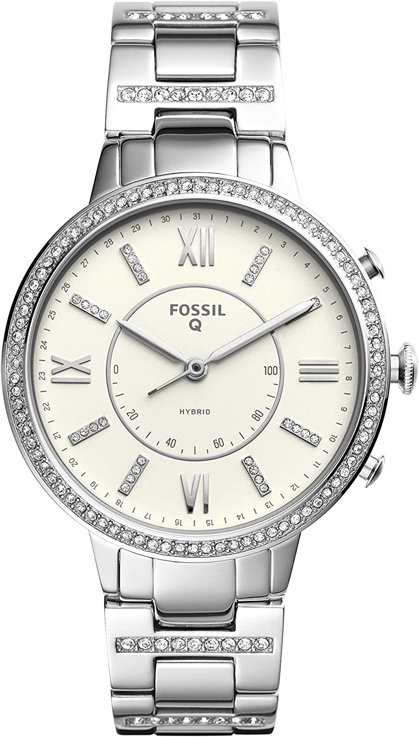 B076B8PWSQ Fossil Women's Virginia Stainless Steel Hybrid Smartwatch 81GlpOugYXL