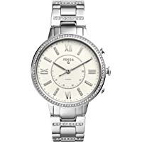 Fossil Q Women's Virginia Stainless Steel Hybrid Smartwatch, Color: Silver-Tone (Model: FTW5009)