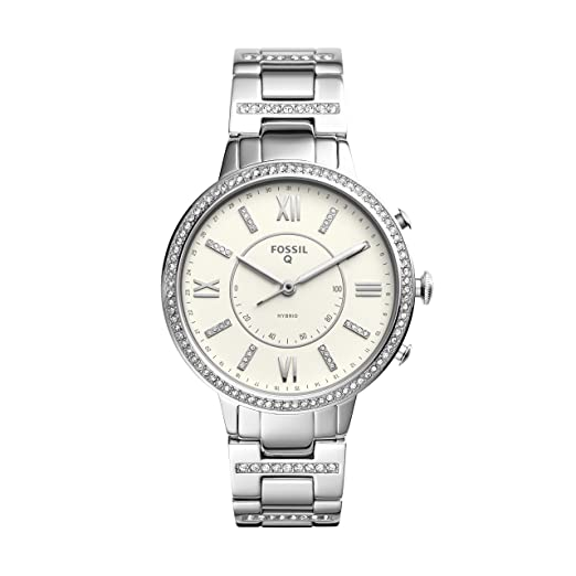 Fossil Womens Virginia Stainless Steel Hybrid Smartwatch