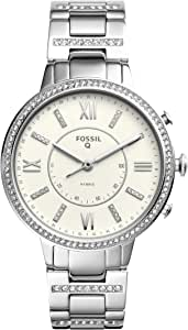 Fossil Women's Virginia Stainless Steel Hybrid Smartwatch, Color: Silver (Model: FTW5009)
