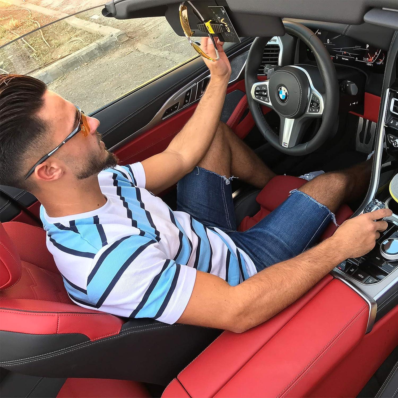 Universal Sun Visor Dual Clip Organizer 1 1 Pack BLUPOND Sunglasses Holder for Car