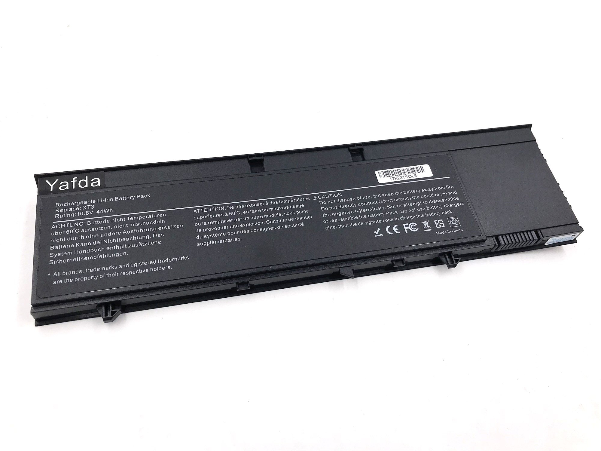 Yafda XT3 10.8V 44Wh New Laptop Battery for Dell Latitude XT3 Tablet PC 1NP0F H6T9R 37HGH RV8MP