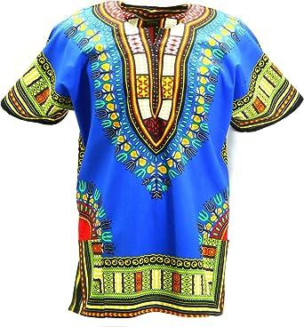 Klubkool Camisa Dashiki diseño Tribal africano caftán bohemica Unisex: Amazon.es: Ropa y accesorios