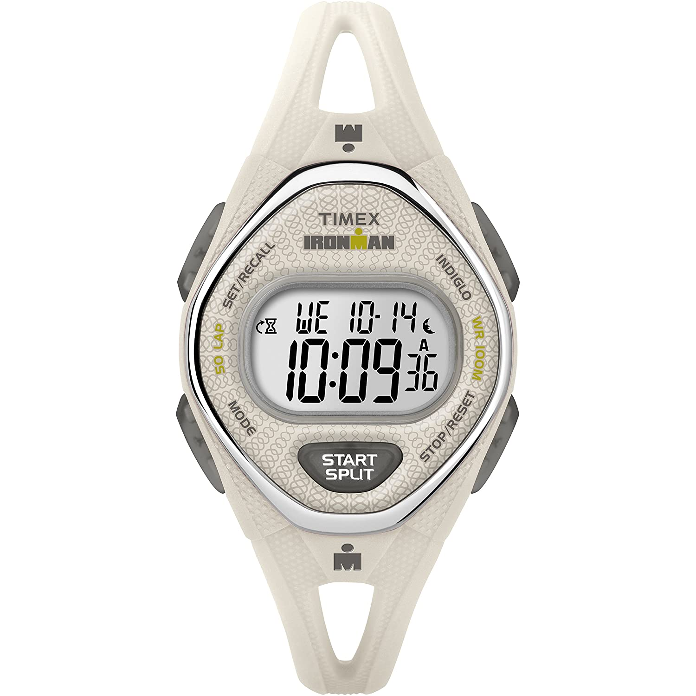 37ee7bb9d Amazon.com: Timex Women's TW5M10800 Ironman Sleek 50 White Silicone Strap  Watch: Watches