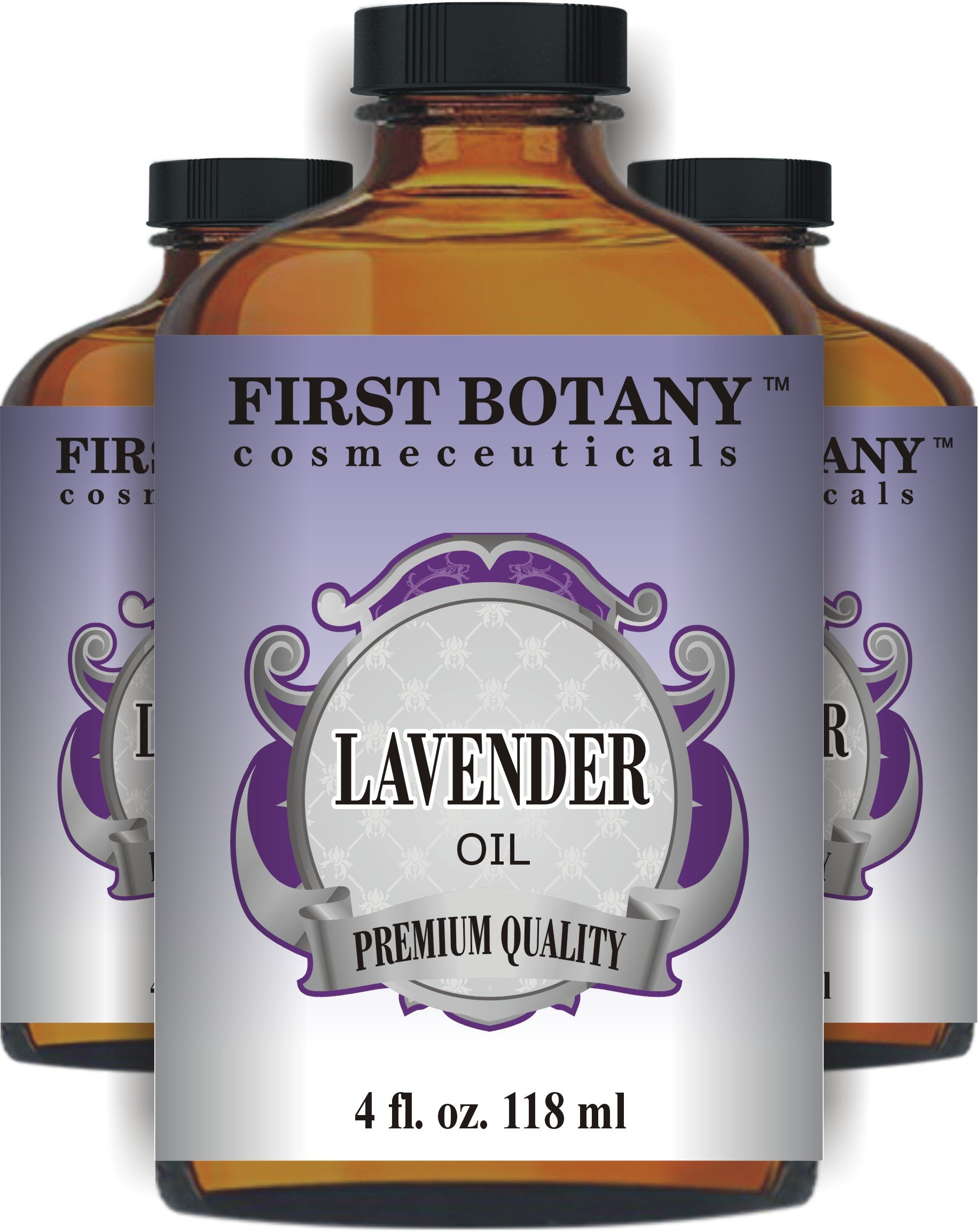 First Botany Cosmeceuticals Lavender Oil with a Glass Dropper, 4 oz (Natural Isolates) by First Botany Cosmeceuticals (Image #2)