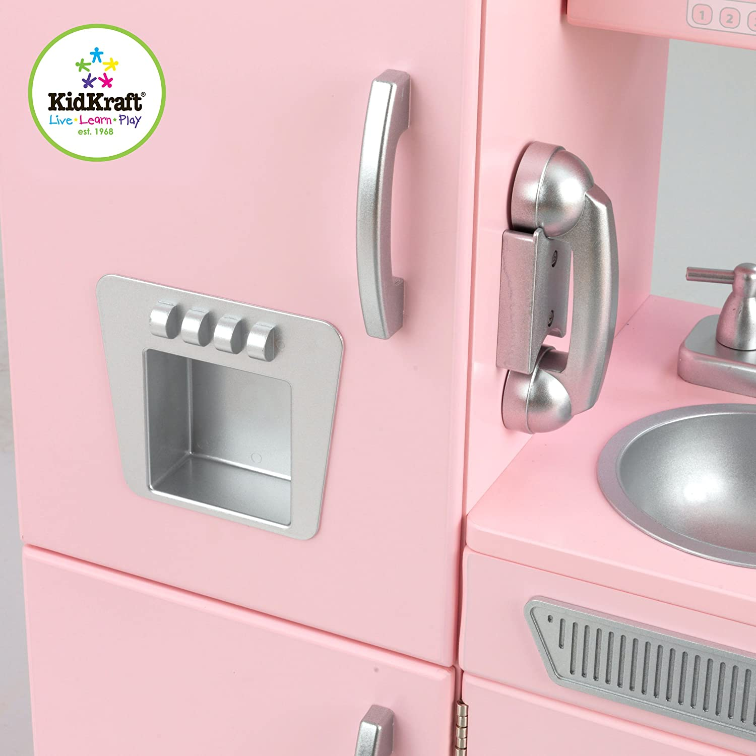 kidkraft vintage kitchen in pink toys games
