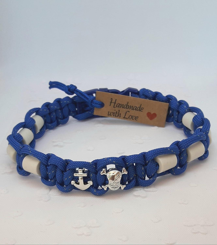 EM-Keramik-Halsband für Hunde/EM - Hundehalsband/EM Band - blue boy