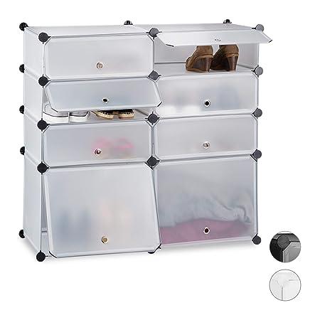 Scarpiere Componibili In Plastica.Relaxdays Scarpiera 8 Scomparti Mobile Porta Scarpe Scaffale
