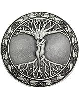 Q&Q Fashion Men Vintage Silver Celtic Tree Of Life Love Nordic Mythology Pagan Wicca Belt Buckle