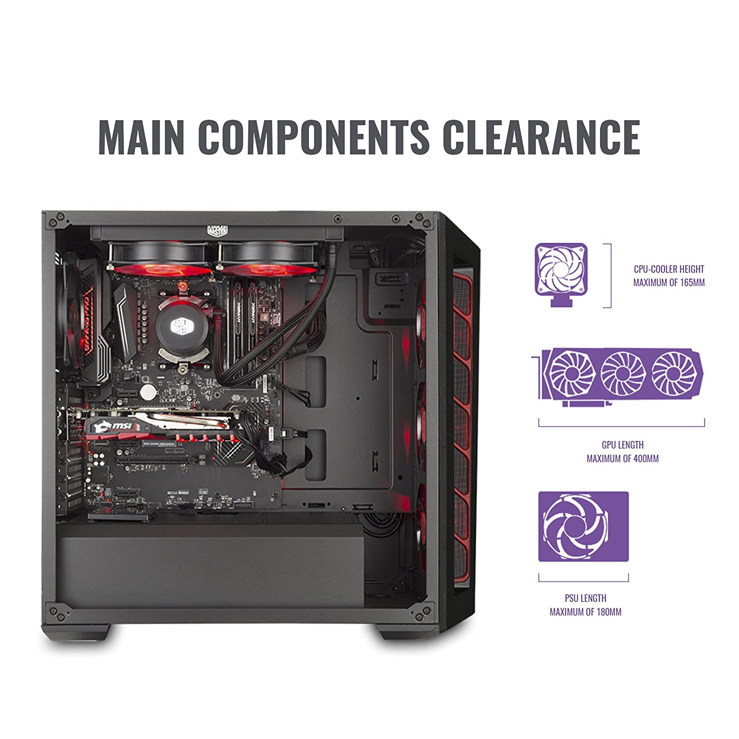 f211458377f Amazon.com: Cooler Master Computer Case Components Other MCB-B510L-KANN-S00:  Computers & Accessories