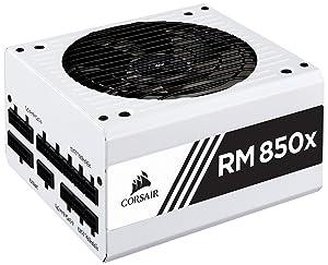 CORSAIR RMX White Series (2018), RM850x, 850 Watt, 80+ Gold Certified, Fully Modular Power Supply - White