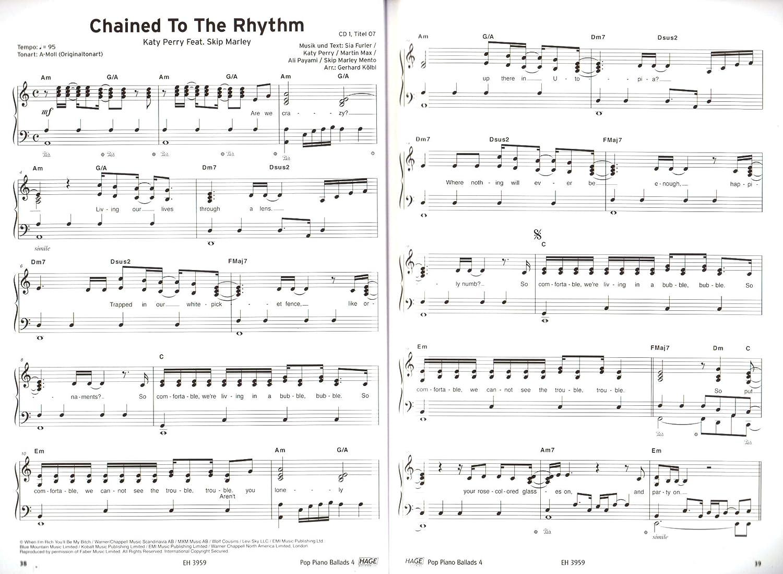 Pop Piano Ballads banda 4 – Songbook con 2 CDs y Bunter ...