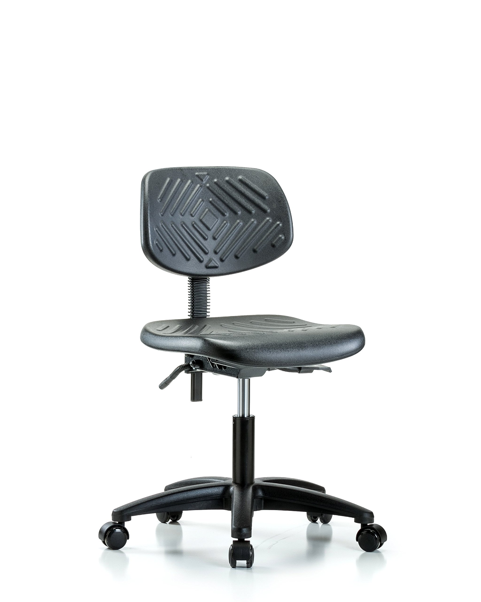 Heavy Duty Industrial Chair for Labs or Class Rooms with Wheels - Desk Height