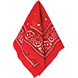 """Amscan Bandana, Party Accessory, Red , 20"""" x 20"""" - 255561"""