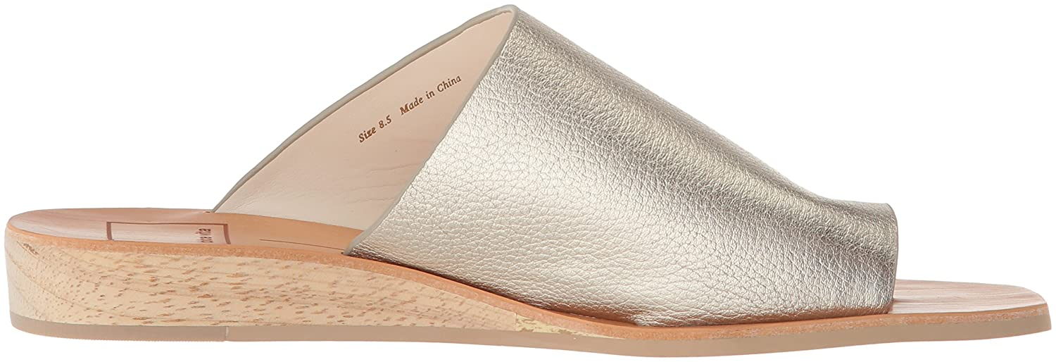 Dolce Vita Women's Hazle Slide Sandal Gold B07B27V42G 6 B(M) US|Lt Gold Sandal Leather a09071